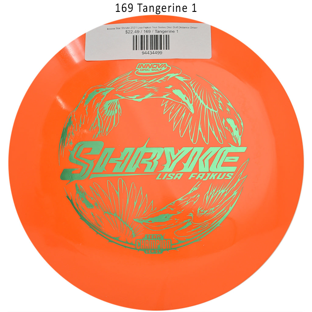 innova-star-shryke-2021-lisa-fajkus-tour-series-disc-golf-distance-driver 169 Tangerine 1