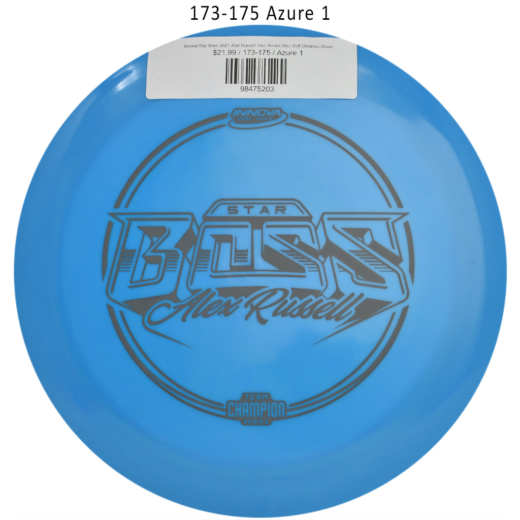 innova-star-boss-2021-alex-russell-tour-series-disc-golf-distance-driver 173-175 Azure 1