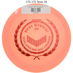 innova-star-destroyer-2021-ricky-wysocki-commemorative-disc-golf-distance-driver 173-175 Texas 34