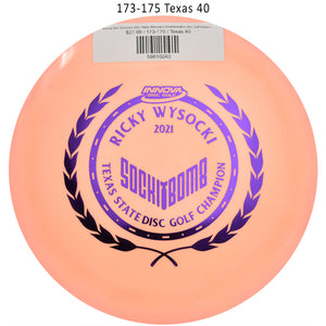 innova-star-destroyer-2021-ricky-wysocki-commemorative-disc-golf-distance-driver 173-175 Texas 40