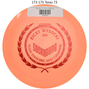 innova-star-destroyer-2021-ricky-wysocki-commemorative-disc-golf-distance-driver 173-175 Texas 73