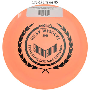 innova-star-destroyer-2021-ricky-wysocki-commemorative-disc-golf-distance-driver 173-175 Texas 85