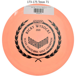 innova-star-destroyer-2021-ricky-wysocki-commemorative-disc-golf-distance-driver 173-175 Texas 71