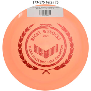 innova-star-destroyer-2021-ricky-wysocki-commemorative-disc-golf-distance-driver 173-175 Texas 76