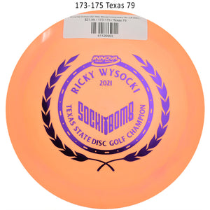 innova-star-destroyer-2021-ricky-wysocki-commemorative-disc-golf-distance-driver 173-175 Texas 79