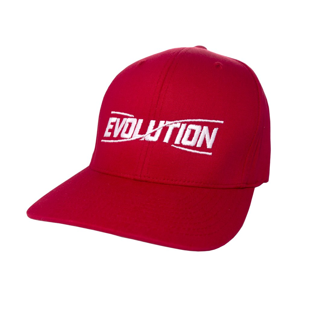 Discmania Evolution Flexfit Disc Golf Hat Red