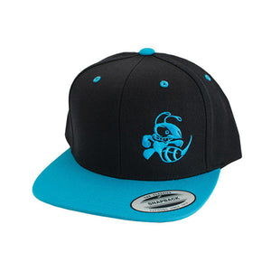 discraft-buzzz-two-tone-snapback-disc-golf-hat Black-Blue