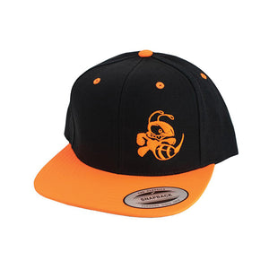 discraft-buzzz-two-tone-snapback-disc-golf-hat Black-Neon Orange