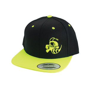 discraft-buzzz-two-tone-snapback-disc-golf-hat Black-Neon Yellow