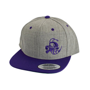 discraft-buzzz-two-tone-snapback-disc-golf-hat Heather Gray-Purple