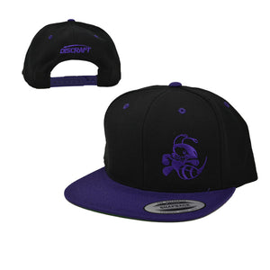 discraft-buzzz-two-tone-snapback-disc-golf-hat Black-Purple
