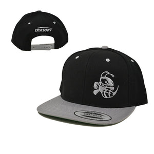 discraft-buzzz-two-tone-snapback-disc-golf-hat Dark Gray-Black