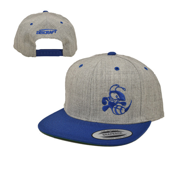 Discraft Snapback Buzzz Two Tone Disc Golf Hat Heather Gray-Royal Blue