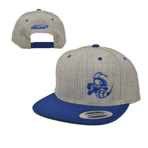 discraft-buzzz-two-tone-snapback-disc-golf-hat Heather Gray-Royal Blue
