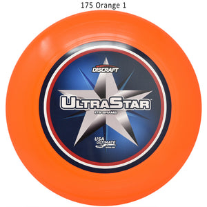 Discraft Supercolor Ultra-Star Center Print Sportdisc Disc Golf 175 Orange 1