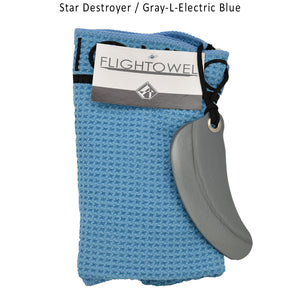 flightowel-disc-golf-bag-essential Star Destroyer-Gray-L-Electric Blue