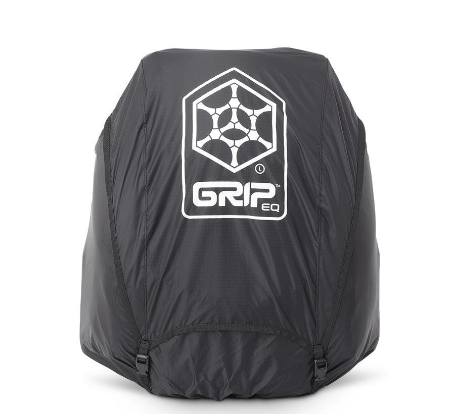 GRIPeq© L Series Full Fit Rain Cover Disc Golf Bag Essentials Black