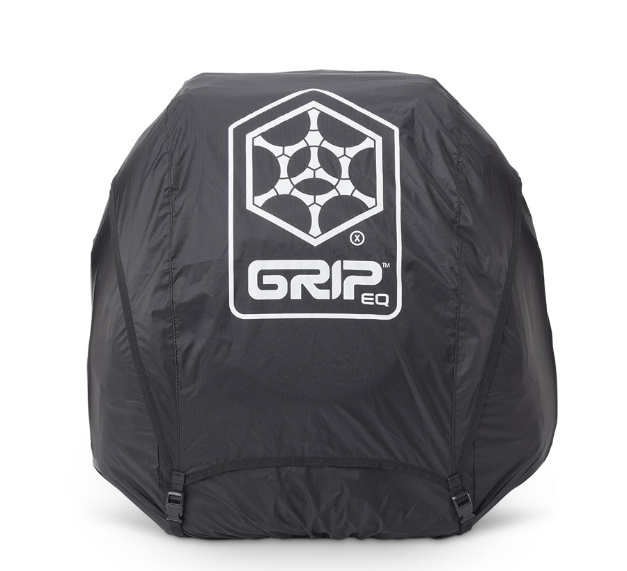 GRIPeq© X Series Full Fit Rain Cover Disc Golf Bag Essentials Black