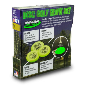 Innova DX Glow 3 Pack Spacesaver Disc Golf Set