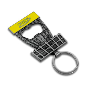 Innova DISCatcher Bottle Opener Keychain Disc Golf Accessories Silver-Yellow