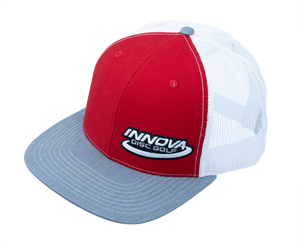 Innova Logo Adjustable Mesh Disc Golf Cap Red-White