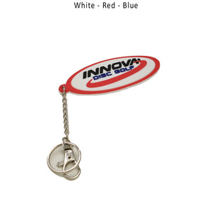 innova-rubber-keychain-disc-golf-accessories White-Red- Blue