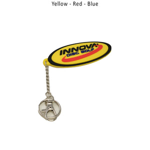 innova-rubber-keychain-disc-golf-accessories Yellow-Red-Blue