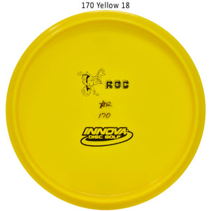 Innova Star Rancho Roc Bottom Stamp Disc Golf Mid-Range Yellow 18