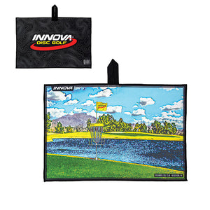 Innova Tour Course Disc Golf Towel Black-Las Vegas Challenge