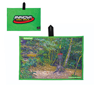 Innova Tour Course Disc Golf Towel Green Beaver State Fling at Milo