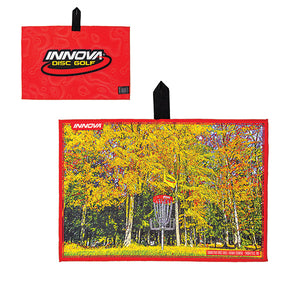 Innova Tour Course Disc Golf Towel Red-Sabattus Disc Golf Hawk