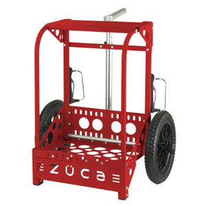 Zuca Backpack LG Disc Golf Cart Red