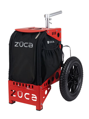 Zuca Compact Disc Golf Cart w/ Mini Pouch Duo Red