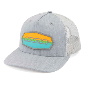 Innova Striped Bar Patch Snapback Mesh Disc Golf Cap Heather Grey