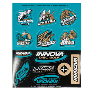 Innova Icon Sticker Sheet Disc Golf Accessories Turquoise