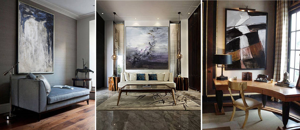 HOW LARGE ABSTRACT PAINTINGS CAN CHANGE YOUR HOME INTERIOR
