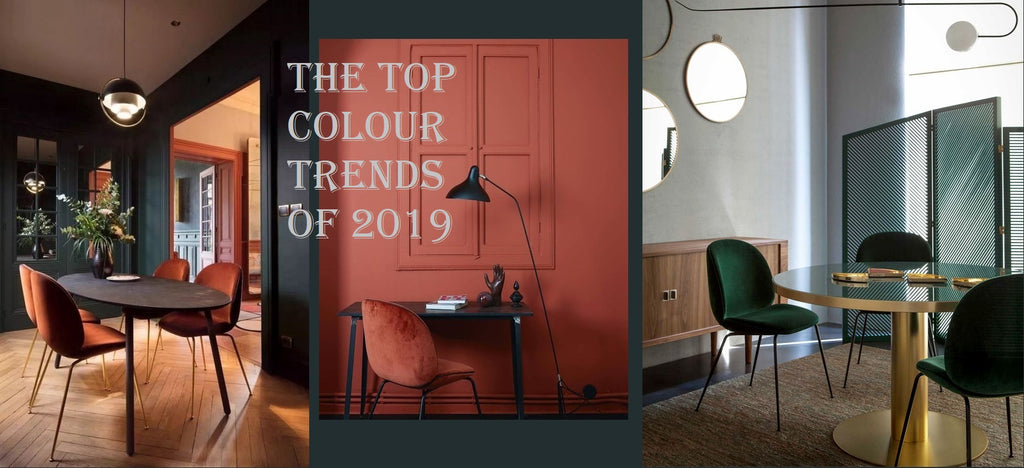 THE TOP COLOUR TRENDS OF 2019 IN INTERIOR DESIGN AND FURNITURE