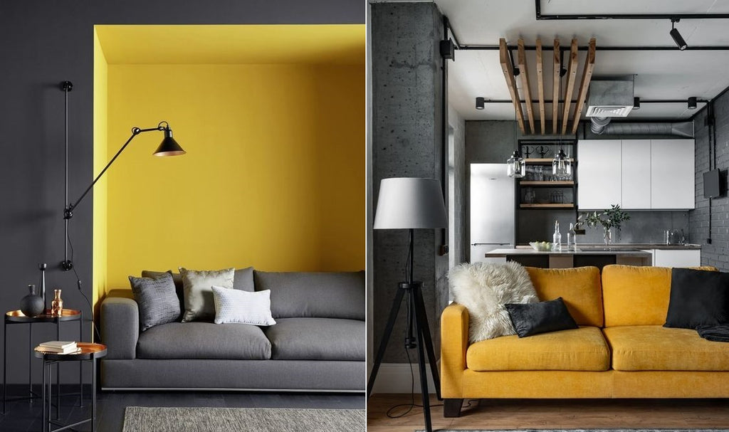 Grey and Yellow Home Interior Design