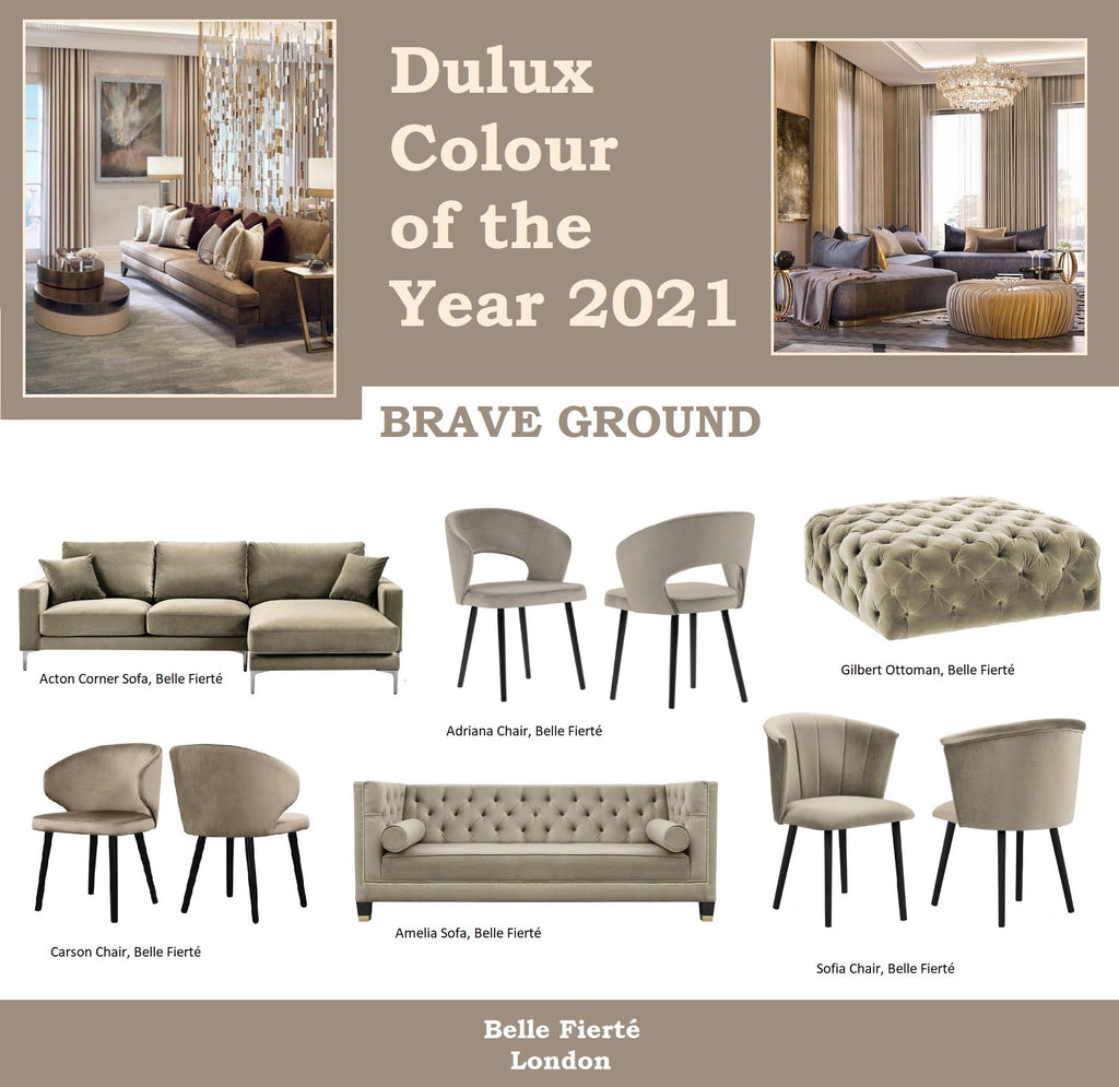 Dulux Brave Ground Colour of the Year 2021, Furniture and Home Decor Ideas