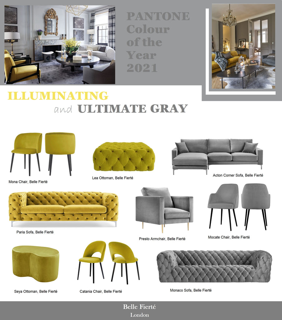Pantone Colours of The Year 2021 Furniture and Home Decor Ideas