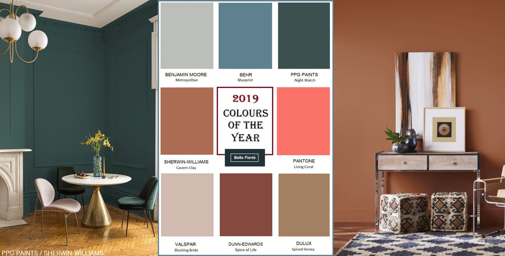 The Top Colour Trends Of 2019 In Interior Design And Furniture Belle Fierte