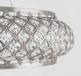 Claire - Luxury Oversized Ceiling Lamp, Elegant Chrome Crystal Chandelier-Ceiling Lamp-Belle Fierté