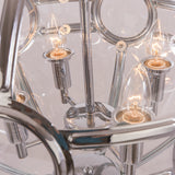 ARLINGTON - Glamour Ceiling Lamp, Glass Chrome Chandelier-Chandelier-Belle Fierté