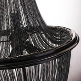 BONNA - Glamour Ceiling Lamp, Black Chain Chandelier-Chandelier-Belle Fierté