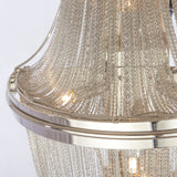 FIONA- Glamour Wall Lamp, Silver Metal Chain Wall Light-Wall Light-Belle Fierté