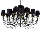 Baroness - 24 Light Glamour Black Palace XL Chandelier-Chandelier-Belle Fierté
