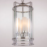 ADELE - Glamour Ceiling Lamp, Glass Chrome Lantern Style Chandelier-Ceiling Lamp-Belle Fierté