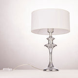 SIERRA - Glamour White and Chrome 40cm Table Lamp-Table Lamp-Belle Fierté