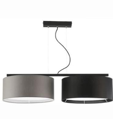 2 Light Grey and Black Shade Modern Ceiling Lamp-Ceiling Lamp-Belle Fierté