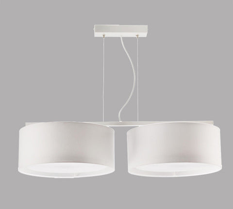 White 2 Light Modern Ceiling Lamp-Ceiling Lamp-Belle Fierté